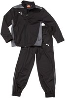 PUMA Kinder Trainingsanzug Foundation Poly Suit II, Black-Dark Shadow, 152, 653575 03