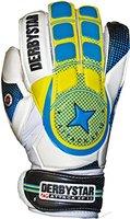 Derbystar Herren Attack XP 12 Torwarthandschuhe, Weiß/Blau/Gelb, 2