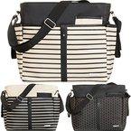 Wickeltasche (+ Wickelauflage) Baby Tasche mit Befestigung für Kinderwagen Buggy (LATTE)