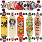 [Maronad.GCP]® Longboard Skateboard drop through Race Cruiser ABEC-11 Skateboard 104x24cm Streetsurfer skaten SAT