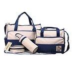 Fafada 5tlg. Schwangerschaft Tasche Baby Windel Wickeltasche Multifunktionale Mama Handtasche Blau