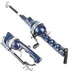 Hrph Carbon-tragbare Falten Angelrute Winter Eis Angelrute Mini Teleskopruten mit Angelschnur