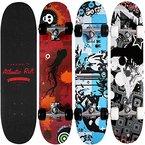 Skateboard Skate Board Komplettboard Deck Funboard Holzboard ABEC 9 80x24cm Ahornholz