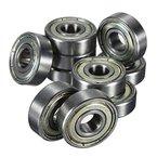 FamilyMall(TM)10 Stk. Kugellager miniatur Rillenkugellager 608 ZZ 8 x 22 x 7mm Bearing Stahl