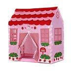 Spielzelt - SODIAL(R)Spielhaus Maedchen Stadt Haus Kinder Geheimer Garten Rosa Spiel-Zelt Grossartig Geschenk
