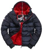 SUPERDRY Herren Jacke Polar Sports Puffer, Blau (Navy/Red26S), L