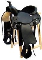 Westernsattel LOWA Schwarz aus Kunstleder NEU, Größe:17 Zoll