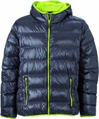 James & Nicholson Herren Jacke Daunenjacke Men's Down Jacket grau (carbon/acid-yellow) XXX-Large