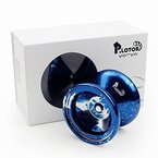 YOYO, Magicyoyo P. LOTOR Poliert Legierung Aluminium Professionelle Unresponding Yoyo Jo Jo Ball mit Geschenk-Paket (Blau mit Spritzern)