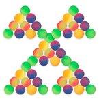 S/O® 50er Pack Flummi Frost 27mm Flummis Springball Hüpfball Mitgebsel Tombola Kindergeburtstag