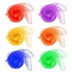 Idealeben 12er Jonglier/Tanz Tücher mehrfarbige Schals zum Jonglieren, Tanzen, Spielen. Viel Spaß damit!