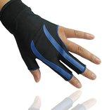 BININBOX® Herren Billard-Handschuh Pool Shooter 3-Finger-Handschuh Handschuhe Nylon Snooker Billard Zubehör (Blau)