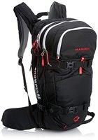 Mammut Lawinenrucksack Ride Removable Airbag, Black/Fire, 29 x 23 x 50 cm, 30 L, 2610-01100-0055-130