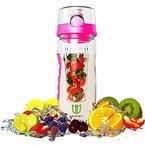 Wasserflasche, DEGBIT® [BPA-freiem Tritan] Kunststoff Trinkflasche Sport, Flasche ca. 1L, Sportflasche Auslaufsicher, Trinkflaschen BPA Frei Infuser mit Verschluss & Tragehenkel, Wasserflasche Rot