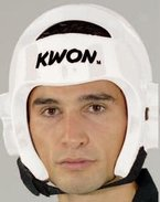 KWON® Taekwondo Kopfschutz 40063 PU CE Weiß WTF Kopfschützer