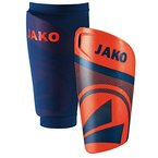 JAKO Erwachsene Galaxy Light Schienbeinschoner, Flame/Nightblue, L