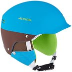 Alpina Erwachsene Skihelm Spam Cap, Blue-Brown Matt, 54-57 cm, 9033283