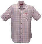 Funktions-Hemd Freizeit-Hemden Herren Kurzarm von Fifty Five - André orange/blue check 3XL - Quick-Dry und UV-Schutz für Outdoor-Bekleidung