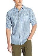 Columbia Herren Hemd Silver RidgeLong Sleeve Shirt, Night Tide Ripstop Plaid, XL, AM7441-452-XL