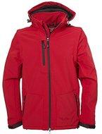 Fifty Five Herren Softshell-Jacke mit abtrennbaren Ärmel und Kapuze - Power red 3XL - Outdoor-Jacken mit FIVE-TEX Membrane für Outdoorbekleidung