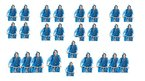 24 Lifetime Regenponchos In Blau Von Thats it...Regenponchos 130 x 100 Cm UNISEX ONE SIZE FITS ALL (24)
