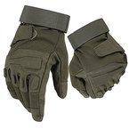 Mimicool Herren Outdoor-Handschuhe Full Finger Military Tactical Handschuhe Anti-Rutsch Verschleißbeständige Fahrrad-Radfahren Motorrad-Handschuhe (army green, L)