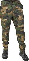 Lange Jagdhose Jägerhose aus robustem Baumwollmischgewebe in verschiedenen Farben Farbe Woodland Größe S