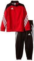 adidas Unisex - Kinder Trainingsanzug Sereno14, Top:university red/black/white Bottom:black/white, 140, D82933