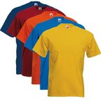 Fruit of the Loom 5er Pack T-Shirts Screen Star Full Cut Farbset I,XXL
