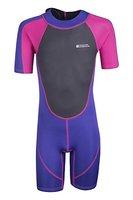 Mountain Warehouse Kinder Shorty Schwimm Tauch Bade Wasser Anzug Neopren Urlaub Wassersport leuchtendes Pink 164