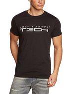 Jack & Jones Tech Herren T-shirt JJT Foam New Tee Short Sleeves Crew Neck Noos, Schwarz(Black), L, 12091568