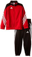 adidas Unisex - Kinder Trainingsanzug Sereno14, Top:university red/black/white Bottom:black/white, 152, D82933