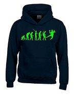 HANDBALL Evolution Kinder Sweatshirt mit Kapuze HOODIE schwarz-green, Gr.152cm
