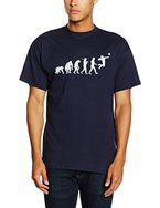 Shirtzshop Herren T-Shirt Faustball Volleyball Handball Evolution, Navy, L, ss-shop-evo_faustb-t