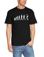 Shirtzshop Erwachsene T-Shirt Original Volleyball II Evolution, Schwarz, XL, ss-shop-evo_voll2-t