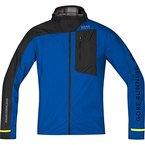 GORE RUNNING WEAR Herren Laufjacke, GORE WINDSTOPPER Active Shell, FUSION WS AS Jacket, Größe L, Blau/Schwarz, JWULTR