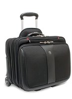 "Wenger 600662 PATRIOT 17"" 2-Piece Business Wheeled Laptop Briefcase , Padded laptop compartment with Matching 15.4"" Laptop Case in Black {38 Litres}"