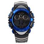 Foxnovo A5106 50M wasserdicht Studenten Sport LED Digital Armbanduhr mit Datum /Alarm Stoppuhr /LED Licht (blau)