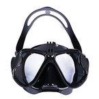 VILISUN - Tauchmaske, Schnorchelmaske, Tauchmaske mit Schnorchel, Schnorchelset, Anti-Fog und Anti-Leck Taucherbrille für GoPro mit gehärteten Linsen und Einstellbarem Kopfband (schwarz)