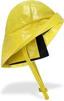 Regenhut Südwester mit Kinnband, breiter Krempe und Innenfutter Farbe Gelb Größe L