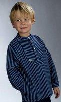 """Fischerhemd für Kinder breit gestreift """"Basic"""" von Modas Größe 140"""