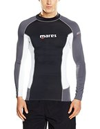 Mares Herren Tauch-shirt Langarm Rash Guard Trilastic L-Sleeve, Black/White/Grey, M, 412972M