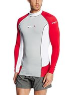Mares Herren Tauch-shirt Langarm Rash Guard Trilastic L-Sleeve DC, Grey/White/Red, M, 412979M