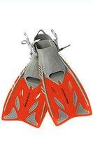 Aquazon Flossen, Tauchflossen, Schwimmflossen Barracuda, rot, Grösse 27-31