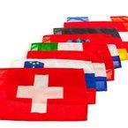 Gastlandflagge nautische Flagge Bootsflagge Länderflagge Fahne , Land:Österreich;Maße:20 x 30 cm