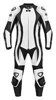 Lederkombi, hochwertiger Einteiler schwarz-weiß von XLS Gr. 46 48 50 52 54 56 58 60 62 (50)