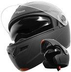 Klapphelm Integralhelm Helm Motorradhelm RALLOX 910 schwarz/matt mit Sonnenblende (XS, S, M, L, XL) Größe S