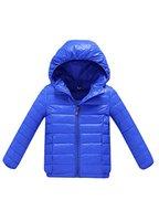 Kinder Daunenjacke Sweatjacke Outdoor Daunen Jacke kälteschutz Kapuze Reißvrschluss Blau 150