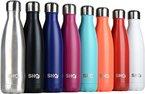 YOUR Bottle! von SHO - Ultimative Trinkflasche, Insolierte, Doppelwandige Edelstahl Wasserflasche & Trinkflaschen (Isolierflasche) - 24 Stunden Kalt & 12 Heiß - 500ml - BPA Frei - Lebenslange Garantie (Jet Black, 500ml)