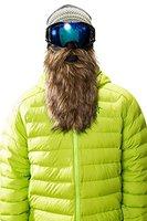 Beardski Goldsucher Skimaske mit Bart - Braun